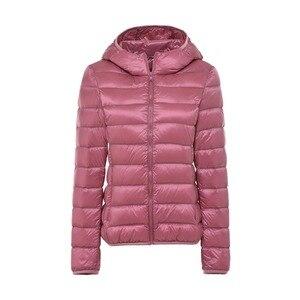 Image 2 - 5XL 6XL 7XL חורף נשים קל במיוחד ברווז למטה מעיל נשים ארוך שרוול מעילים חם סלעית מעיל Parka נקבה להאריך ימים יותר בתוספת גודל