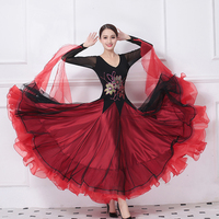 Customized High Quality Women Modern Waltz Tango Dance Costumes dress Sequin Ballroom Competition Dance Dresses with Embroidered