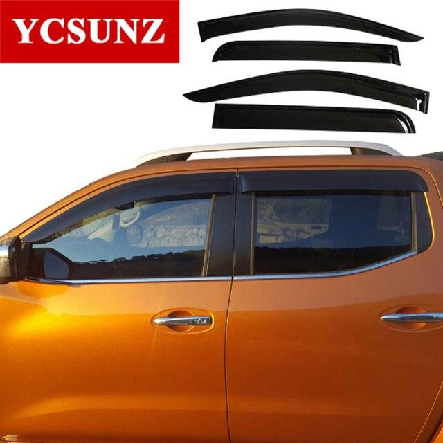 2014-2019 Car Wind Deflector For Nissan Navara Frontier 2019 D23 Black Window Deflector Guard For Nissan Navara Visor Ycsunz