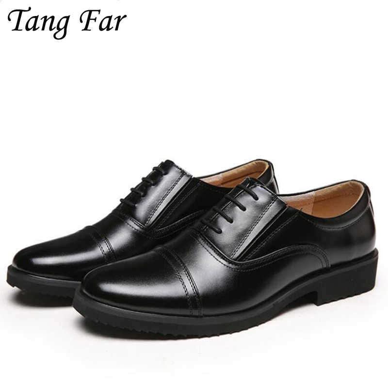 Summer Plus Size 48-39 Men Formal Shoes Leather Officer Shoes Mens Cool Military Professional Shoes Black Oxfords Flats