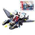 Новое поступление человек - паук истребитель DIY строительные блоки игрушки мини-самолета фигурку дети ломать игрушки детям подарки оптовая продажа