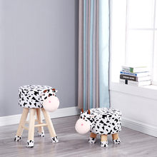 Cartoon Zodiac Animal Stool Wood Plush Creative Sand Stool Soft Cloth Home Change Shoe Stool Baby Child Stool Cute(China)