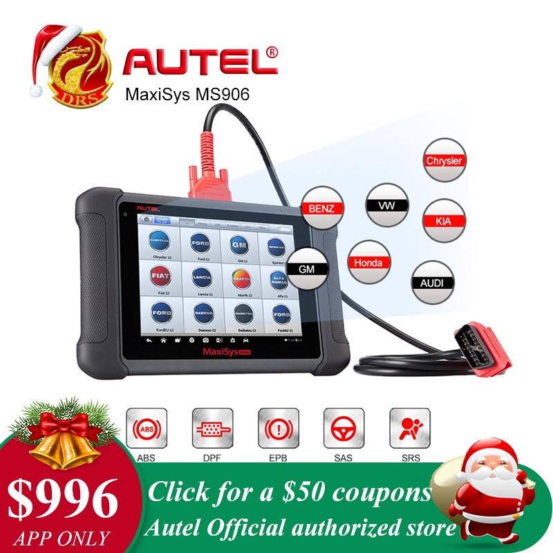 Autel MaxiSys MS906 Automotive Diagnostico Completo del Sistema Cornici e articoli da esposizione MS 906 Potente di MaxiDAS DS708 di Aggiornamento On-Line