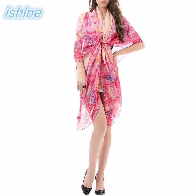 1a586b36a8 150x180cm Red Beach Shawl Women Chiffon Wrap Pareo Sarong Dress 2018 New  Summer Beach Bikini Scarf Swimsuite Cover Up Scarves
