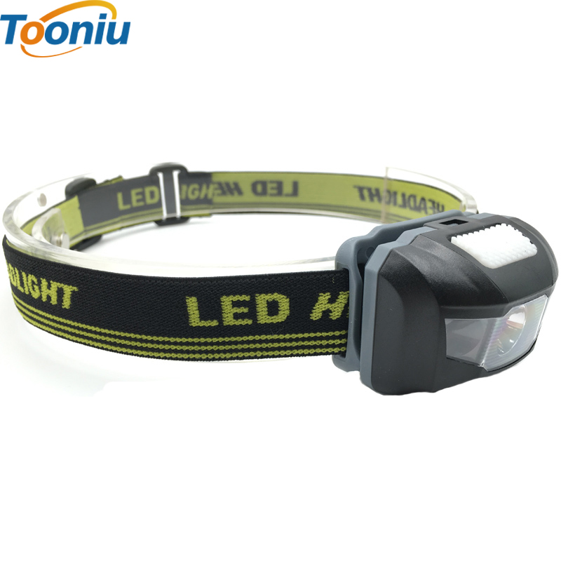 Lamp LED Headlight Head Lamp Light Mini Is-goch Is-goch 600Lm 4 Dulliau R3 + 2 Headlamp 3xAAA LED Gyda Headband