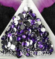 Бесплатная доставка 2500 шт. Несколько грани Фиолетовый Смола 5 мм плоской задней стразами Аппликация Стразы non HotFix дизайн ногтей SS20