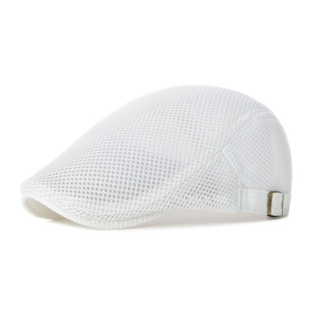 0072a01bca275 VOBOOM Sun Protection White Mesh Irish Cap Golf Ivy Jeff Caps Men Women Net  Cabbie Newsboy
