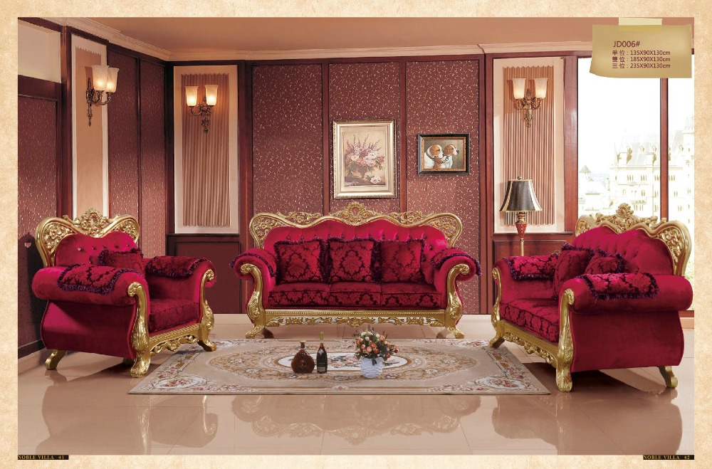 Sectional Sofa Arrival Hot Sale European Style Antique No Genuine Leather Armchair Chaise 2016 Living Room Luxury Sofa Set(China (Mainland))