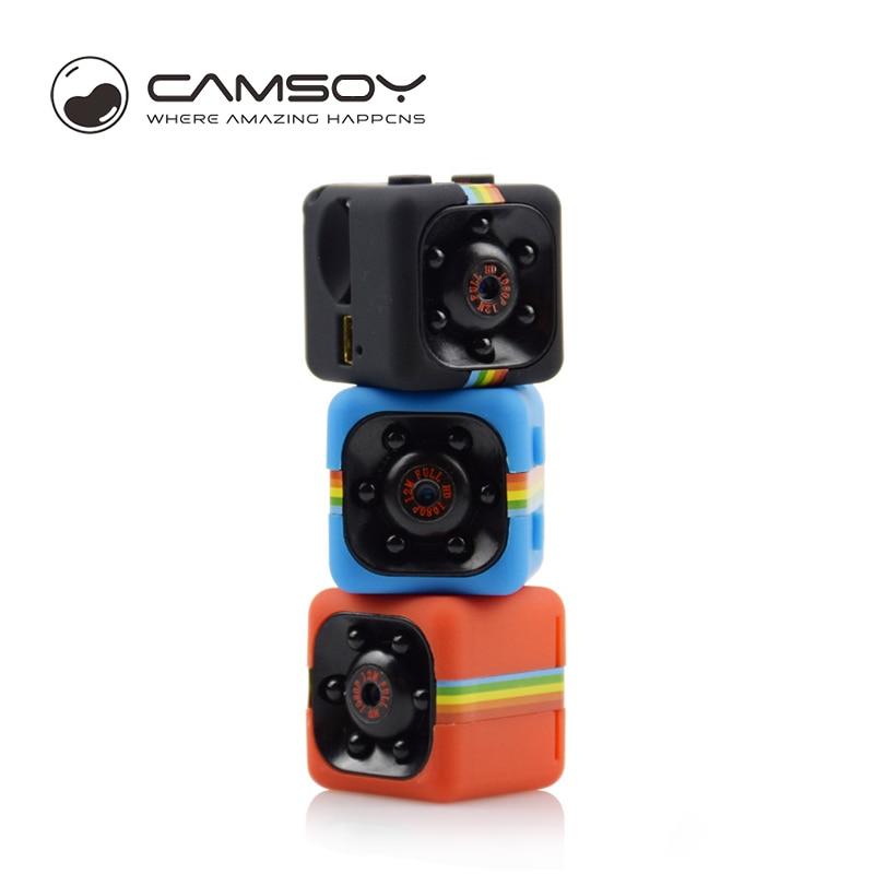 Camsoy SQ11 Mini Caméra HD 1080 P Action Caméra HD Voiture Caméscope Avec Vision Nocturne 12MP Mini DV Caméra