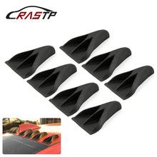 7pcs Universal EVO Style Car Roof Eagle Claw Shark Fins Tails Carbon Fiber Car Roof Eagle Claw Shark Fins Accessories RS-LKT024