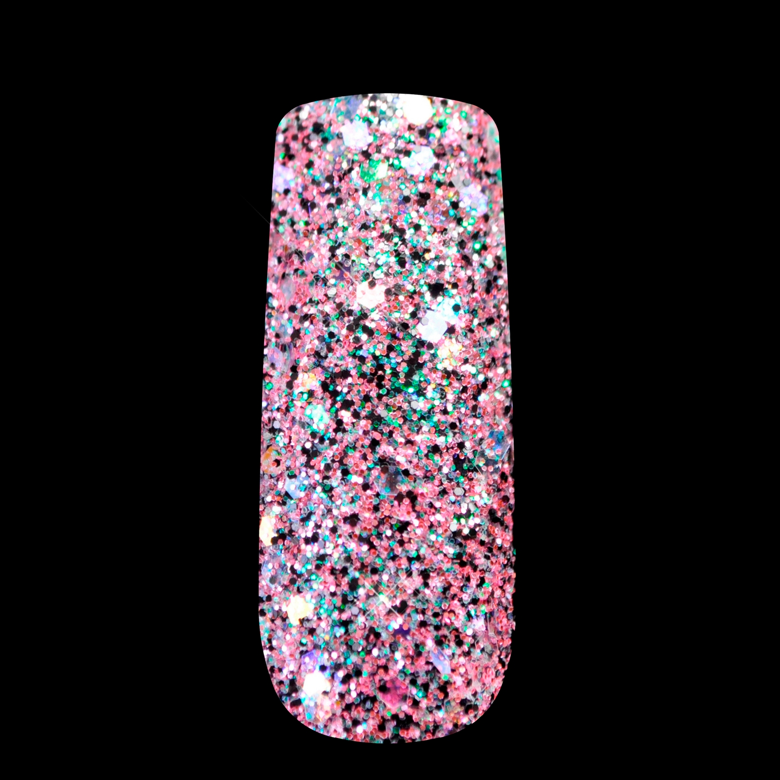 Pink Black Glitter Uv Nail Art Mix Size Acrylic Powder Pentagon Sequins Sheet Supplies Decoration 274 In From Beauty Health On