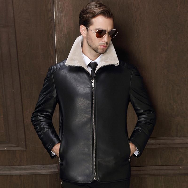 Здесь продается  Big and Tall Men Faux Fur Leather Jackets Winter Famous Brand Leather Fur Jacket Coats Mens Avirex Fur Leather Trench Coats C892  Одежда и аксессуары