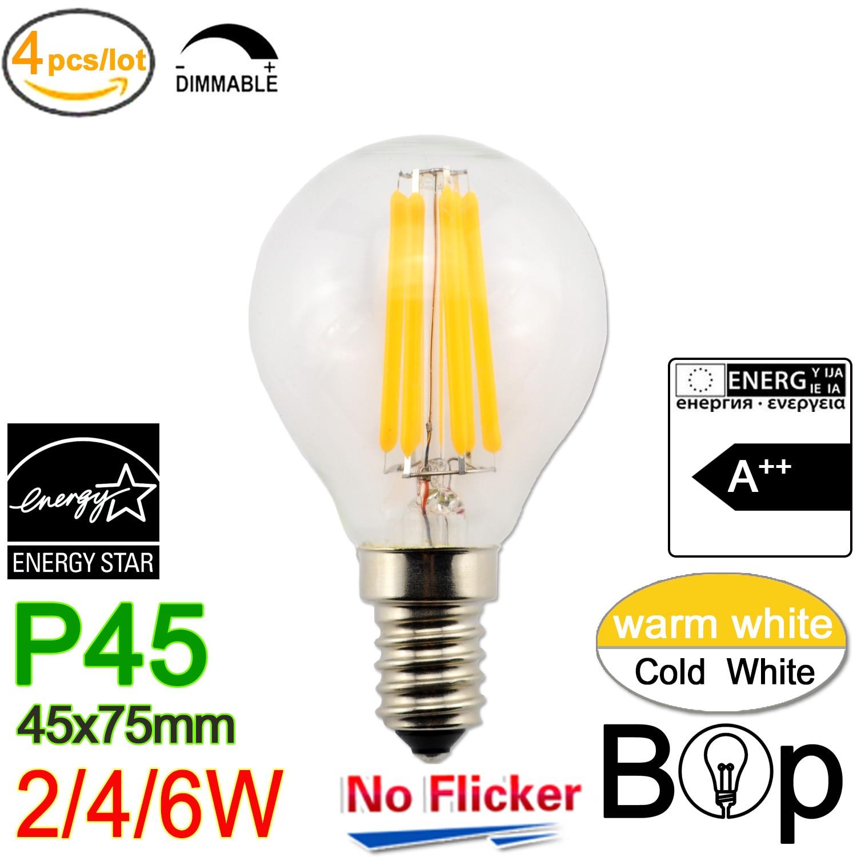 1x 4x 6x Edison Vintage LED Bulb E26 Antique Dimmable Filament Warm Lamp Light