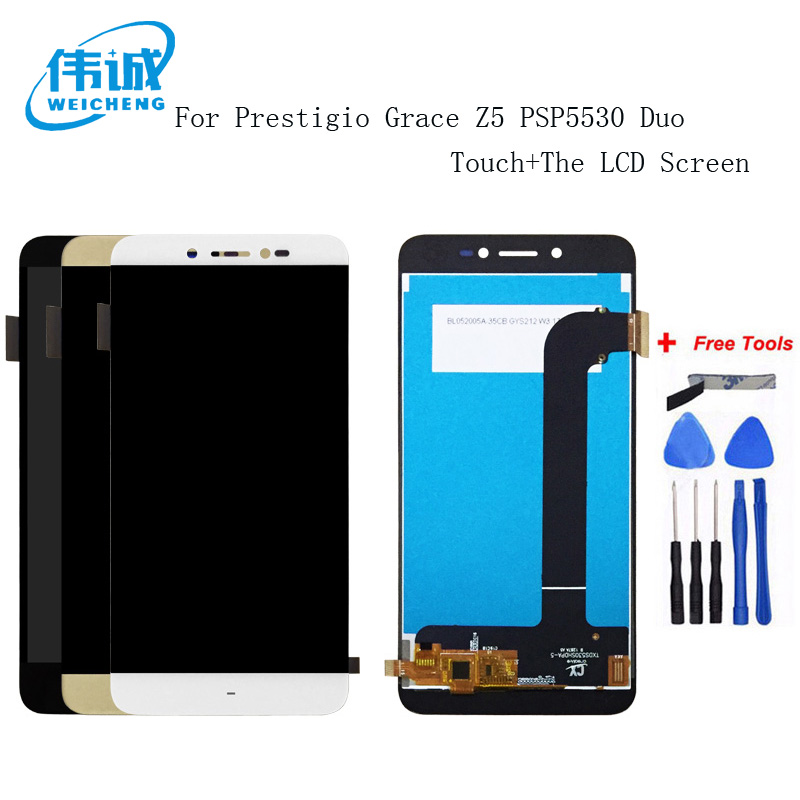 WEICHENG For Prestigio Grace Z5 PSP 5530 Duo PSP5530Duo LCD Display +Touch Screen Screen Digitizer Assembly For PSP5530