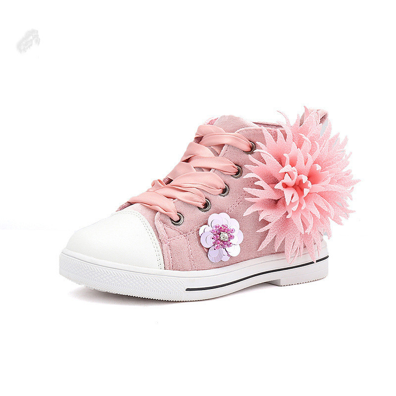 16e83a0d2dc5bc Kids Shoes 2019 flower Lace Up Child Casual Shoe Baby Girl Shoes Student  Sport Shoes Girls