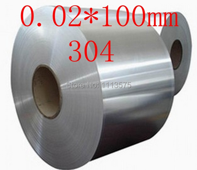 0.02 thickness 0.02*100mm 304 321 316 stainless steel col rolled bright thin foil tape strip sheet plate coil roll  cold rolled stainless steel coil cutter