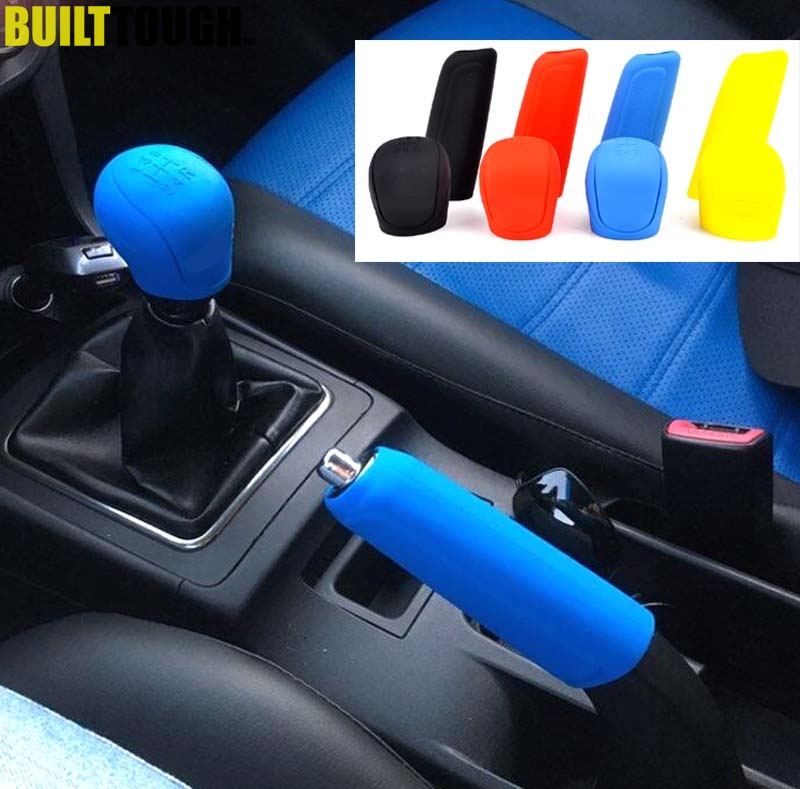 Car Silicone Gear Shift Knob Rod Cover Parking Car Hand Brake Grip Protective Cover Case Decoration Styler
