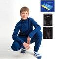 Niños chicos ropa interior térmica niñas termal Top y Bottom Set juego de la piel ropa interior envío gratuito 1211