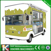 Mobile food truck run 80KM al least 30KM/H with stoves,fryer,counter refrigerator,foodwarmer,grill,exhaust,with free shipping