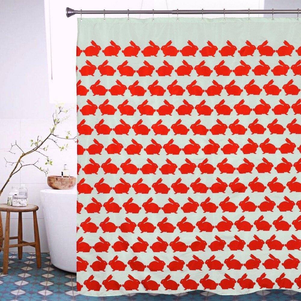 Awe Inspiring Red Rabbit Shower Curtain 2016 Hot Sale Polyester Animal Download Free Architecture Designs Xerocsunscenecom