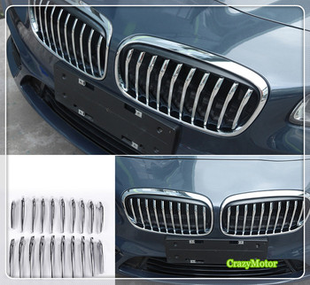 For BMW 2 Series Active Tourer F45 F46 2015-2017 Ordinary/Sport Model Chrome Auto Middle Center  Grille Grill Cover 20/24*