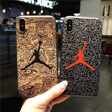 New Silicone Sup Case for Coque iPhone X 10 iPhoneX Michael Jordan Air 23 Basketball Cover for iPhone 6 6s 7 8 Plus i6 i7 funda(China)