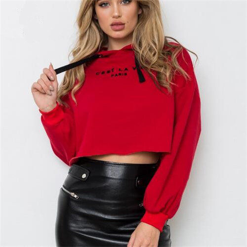 Women 39 s Printed Short Hoodie Coat Tops in Hoodies amp Sweatshirts from Women 39 s Clothing