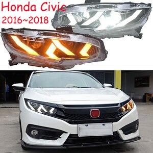 Image 5 - 2016 ~ 2018/2012 ~ 2015 yıl Araba Styling için Civic Far, hid xenon/LED DRL Sis Lambası Civic için kafa lambası