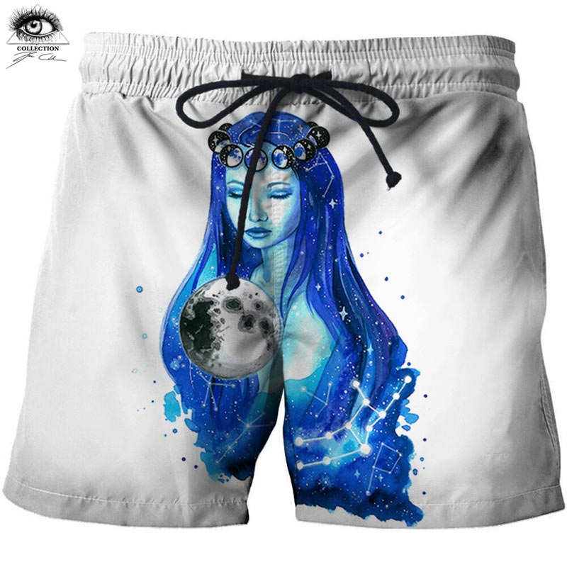 Casual Men Short Quick Dry Fitness Mens Fashion Pants Shorts Goddess 3D pixie cold artist Beach Bodybuild Breathable ZOOTOPBEAR