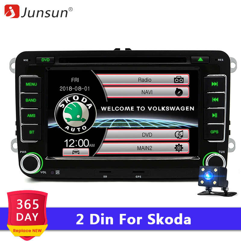 "Junsun 2 din 7"" Car DVD Radio Multimedia Player For VW/Skoda/Octavia/Fabia/Rapid/Yeti/Seat/Leon GPS Navigation car audio stereo"