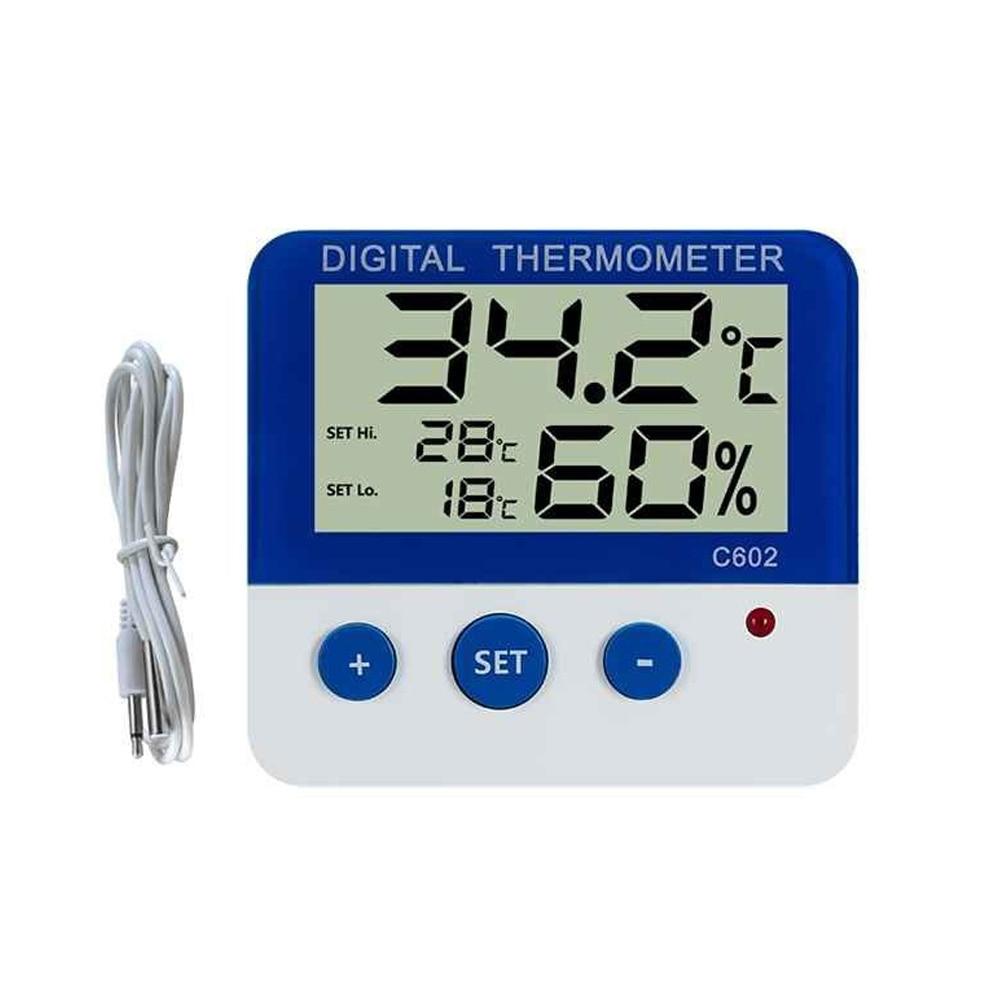 Numérique LCD Thermomètre Réfrigérateur Congélateur Température Compteur Électronique Température Hygromètre Alarme Météo Horloge 2018ing
