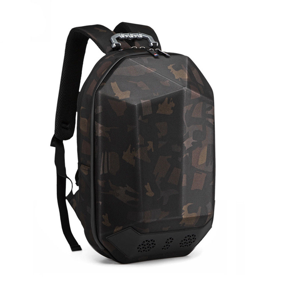 Geek Backpack USB Charging Bluetooth Music Bags camo