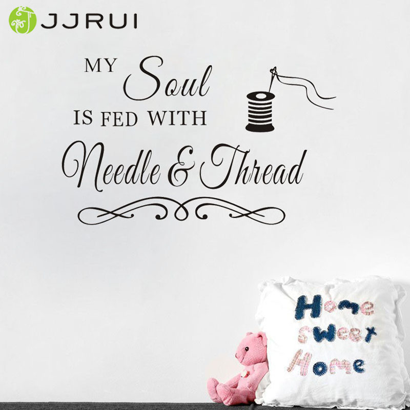 sewing craft room soul needlethread saying vinyl wall decals