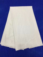 Plain white African Swiss lace voile fabric cotton 100% suitable for men and women high quality Wise Choice 16 8 1p