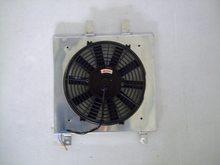 Cubierta de aluminio + ventilador para Honda Civic EK EG B16 B18 92 00, radiador