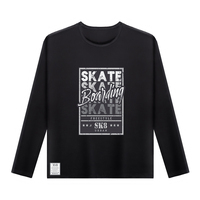 Plus Size O Neck Fashion Autumn Winter Casual Men S Clothing Skate Boarding Printed Long Sleeve