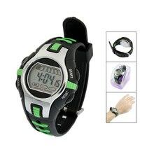 Wholesale5pcs * Новый Черный Зеленый Пластиковые Регулируемый Браслет Цифровые Спортивные Часы для Детей