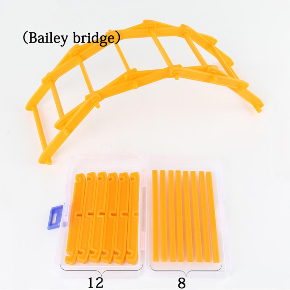 20Pcs/Set DIY Arch Bailey Bridge Model Building Blocks Educational Kids Toy Gift Micro Landscape Bridge Decoration