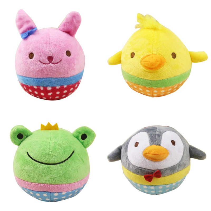 13 Styles Funy Baby Toys Infant Chew Squeaker Squeaky Sound Plush Animal Fruits Vegetables And Feeding Bottle Newborn Kids Toy