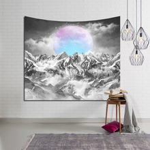 Psychedelic Natural Scenic Tapestry Wall Hanging Landscape Macrame Home Decoration Bedspread Shawl Yoga Blanket