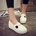 2015 супер белые туфли женщины симпатичные серый высота увеличение туфли толстым дном платформы милые туфли случайные плоские обувь sapatos