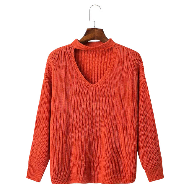 3bd482f725e7 Gamiss Gamiss Winter Spring Women Sweaters Pullovers Casual Loose Choker Sweater  Women Tricot Pullover Jumpers Oversized Mujer