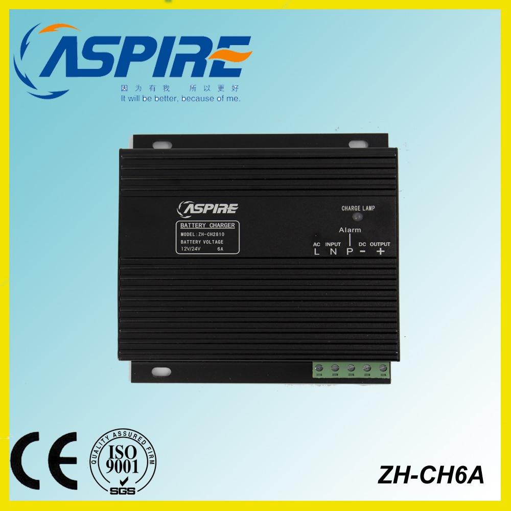 Free Shipping Diesel Generator Intelligent Battery Charger 12V/24V Changable ZH-CH28 6A original ev peak d1 yuneec typhoon q500 charger intelligent balance battery charger free shipping