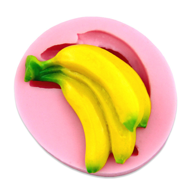 Luyou 3D Banana Silicone Cake Mold Fondant Decorating Cake Tools Fruit Sugar confeitaria Chocolate Candy Soap Candle Molds FM111