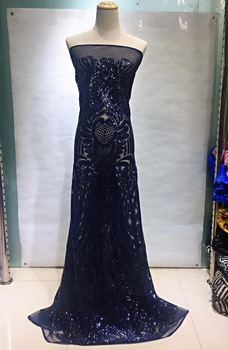 2019 African Lace High Quality  Fabric African Lace Fabric 2019 High Quality Lace Red Lace Trimmings For Sewing JL104