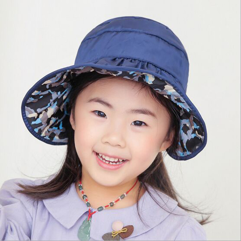 New Arrival Summer Kids Children Lovely Cute Sun Waterproof Hat Foldable  Big Soft Brim Quick Dry Easy Take Cap Outdoor Headwear 06a87697e8f