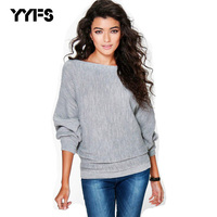 YYFS Women Sweaters Autumn Loose Plus Outerwear Solid Color Bat Sweater Female Sweaters Bat Sleeve Women