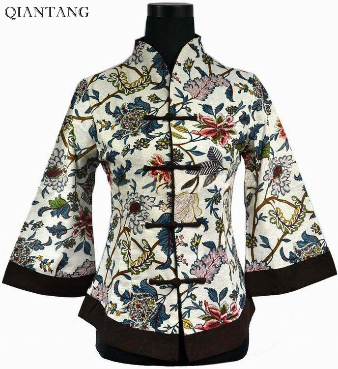 New Spring Chinese Women's Cotton Jacket Coat S M L XL XXL XXXL 4XL - Women's Clothing - Photo 1