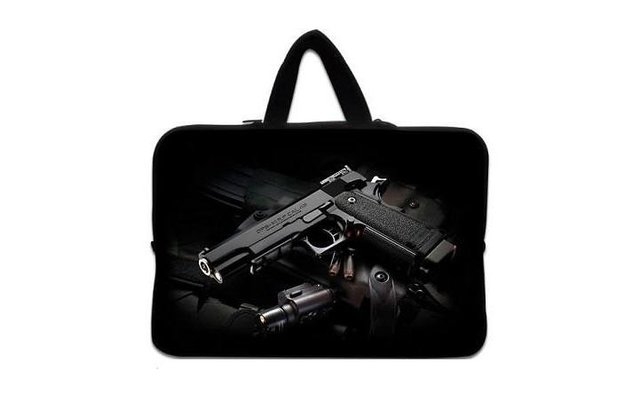 """Cool Police man 10"""" 10.1 inch 10.2"""" Laptop Netbook Handle Bag Sleeve Case Pouch Cover"""