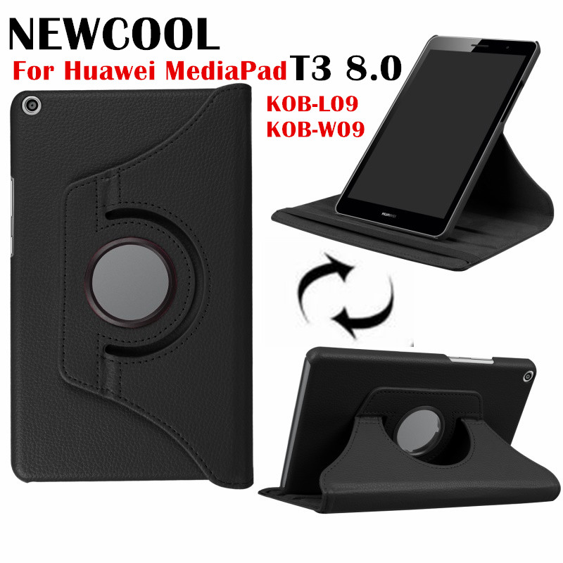 T3 8 Litchi Grain 360 Rotating Leather case Flip Cover for Huawei MediaPad T3 8.0 8 KOB-L09 KOB-W09 tablet case stand cover fashion case for huawei mediapad t3 8 0 kob w09 kob l09 tablet pc for huawei mediapad t3 case cover